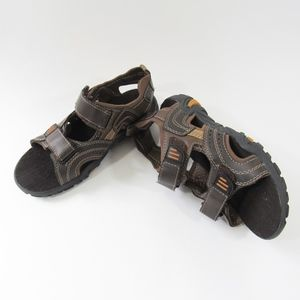 Boys Cherokee Brown Hook & Loop Strap Sandals Shoe
